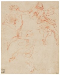 Studies of three angels in flight