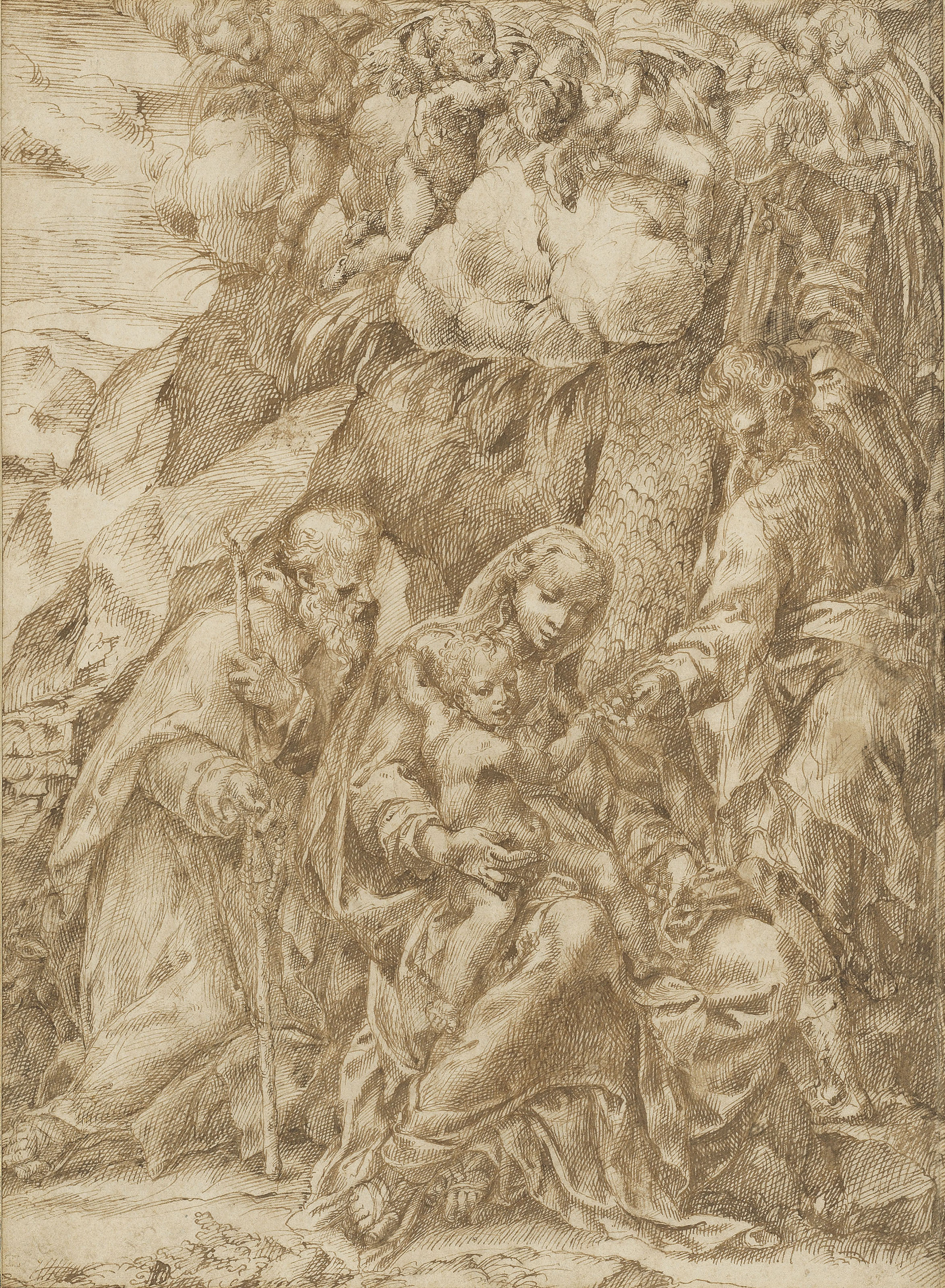 The Rest on the Flight into Egypt with Saint Anthony Abbot
