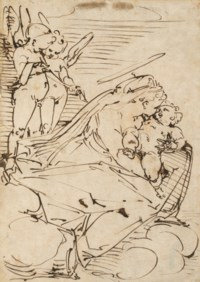The Virgin and Child with two putti