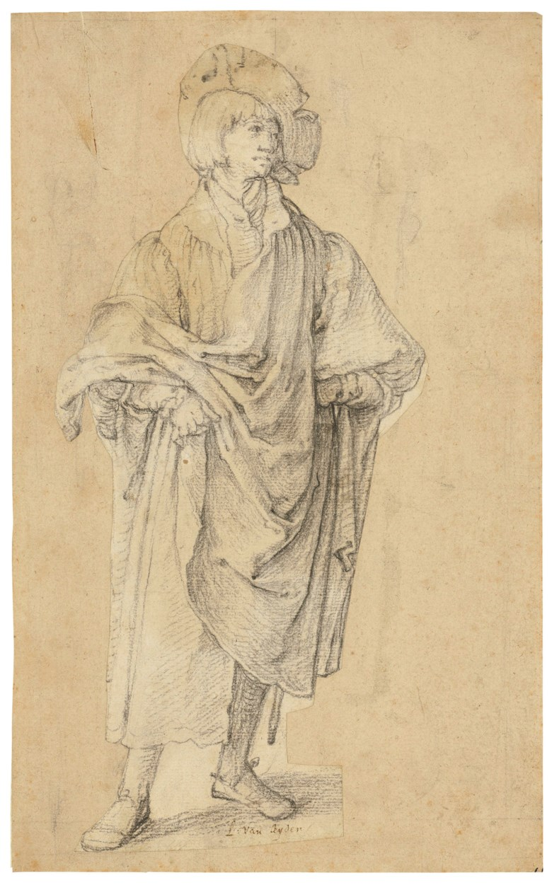 Lucas van Leyden (Leiden 14891494-1533), A Young Man Standing. 11 x 5⅛  in (27.9 x 13.2 cm). Sold for £11,483,750 on 4 December 2018 at Christie's in London
