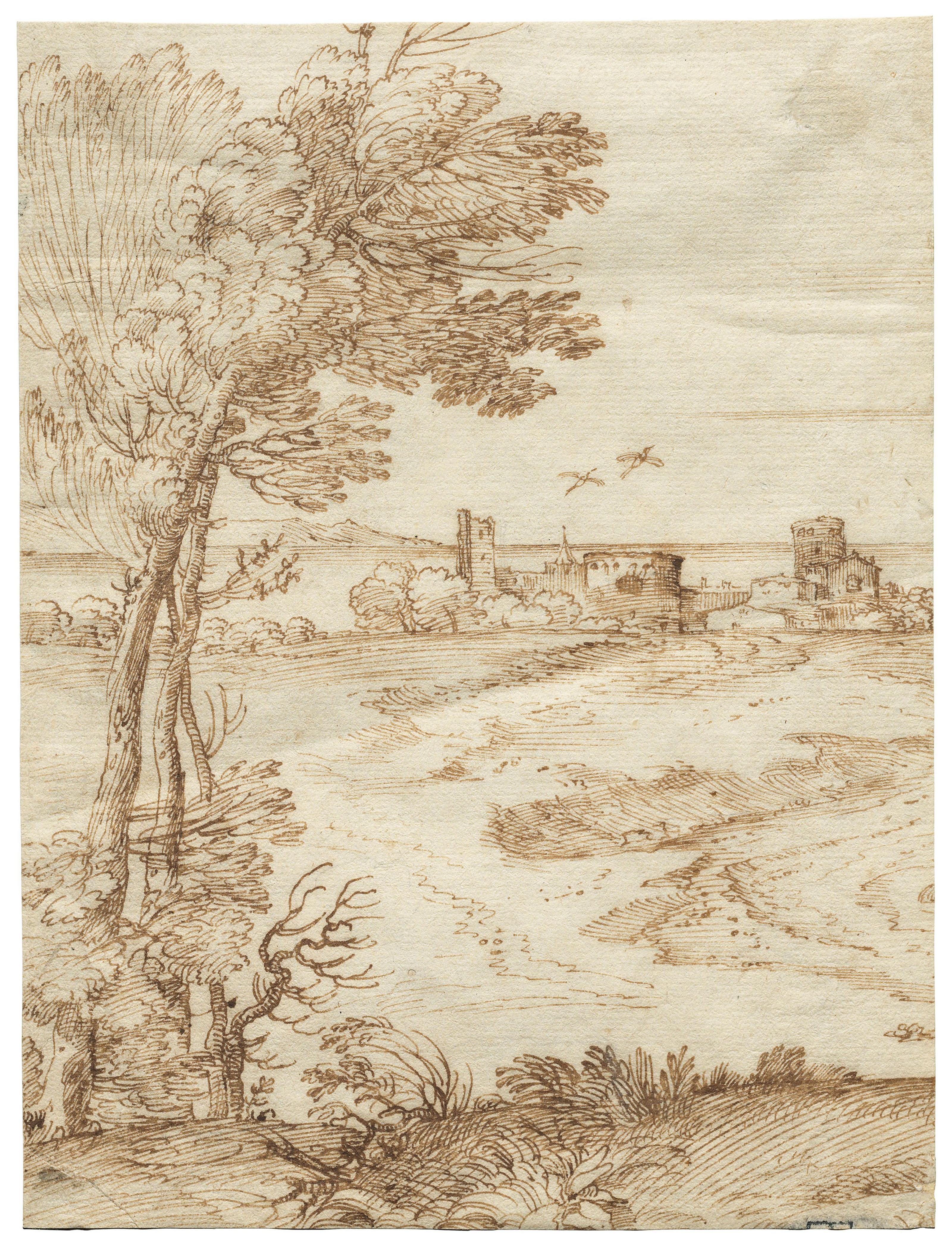 Attributed to Giovanni Francesco Grimaldi, called Il Bolognese (Bologna 1606-1680 Rome)