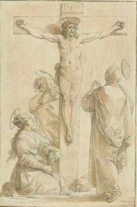 Christ on the Cross, with Saint John, Saint Mary Magdalene and the Virgin