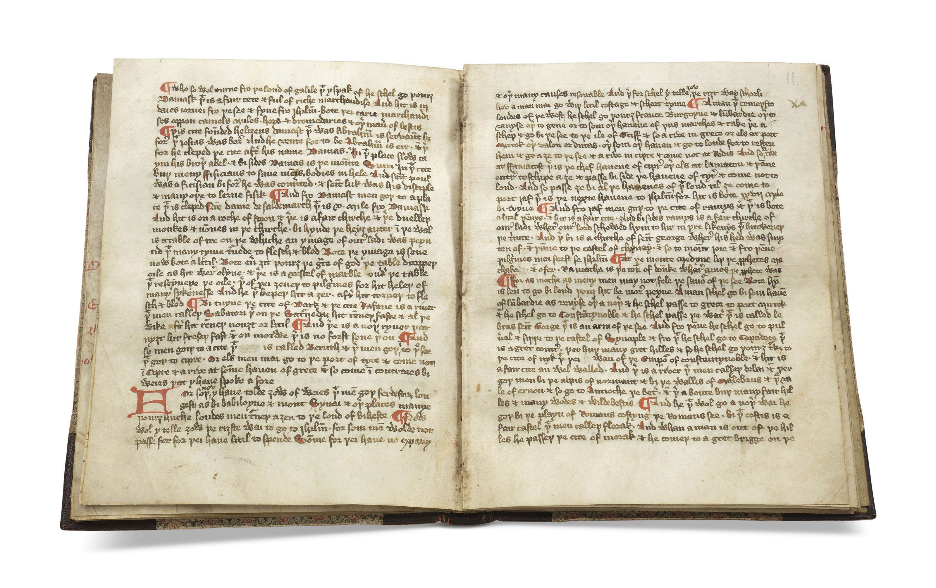 The Book of John Mandeville, in Middle English, decorated manuscript on vellum [England, second half 15th century]