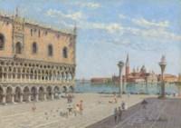 Santa Maria della Salute; and The Doge's Palace, San Giorgio Maggiore beyond, Venice