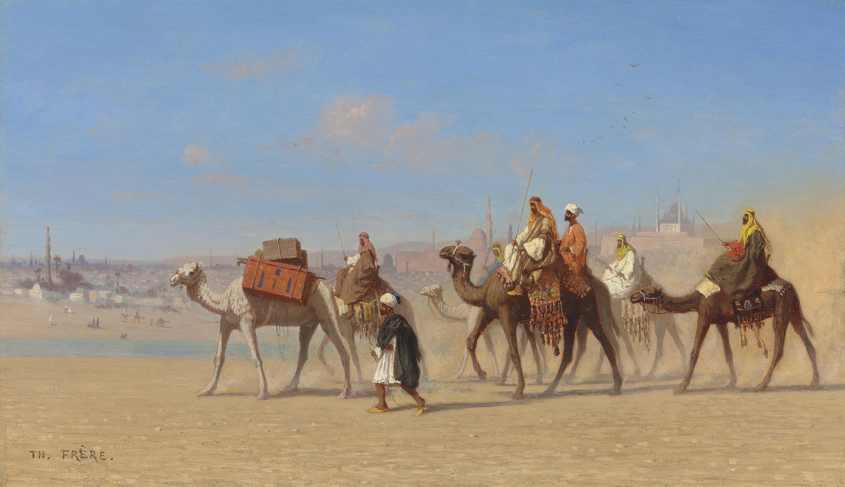 Vue genérale du Caire, arrivé de Bédouins