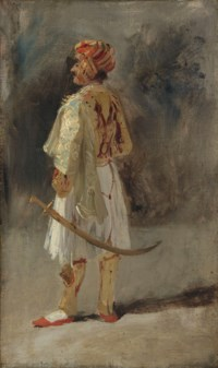The Count of Palatino in the costume of a Palikar
