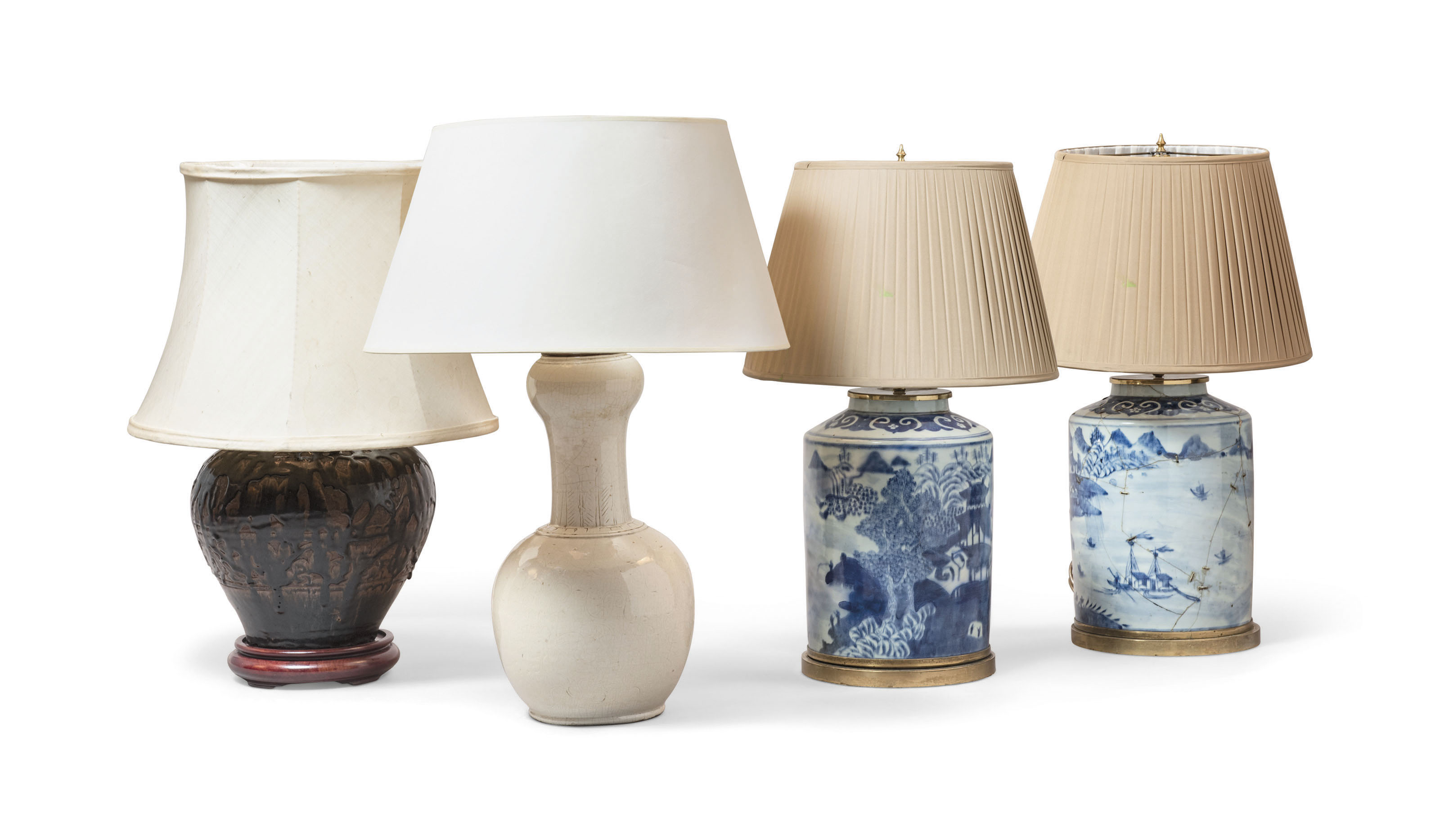Four Chinese Style Table Lamps Modern Furniture Lighting