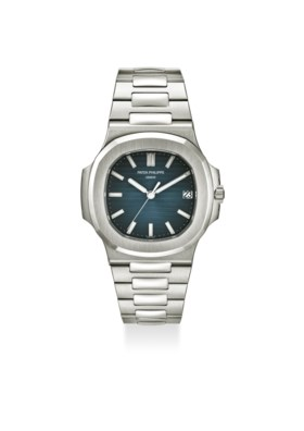PATEK PHILIPPE AN EXTREMELY FINE STAINLESS STEEL AUTOMATIC WRISTWATCH WITH BRACE