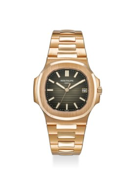 PATEK PHILIPPE AN EXTREMELY FINE 18K ROSE GOLD AUTOMATIC WRISTWATCH WITH BRACELE