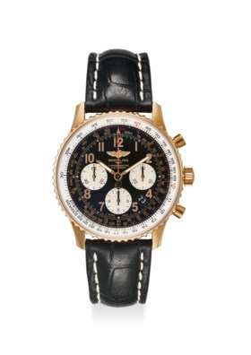 BREITLING AN EXTREMELY FINE 18K ROSE GOLD CHRONOGRAPH AUTOMATIC WRISTWATCH WITH