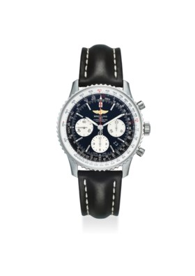 BREITLING AN EXTREMELY FINE STAINLESS STEEL CHRONOGRAPH AUTOMATIC WRISTWATCH WIT