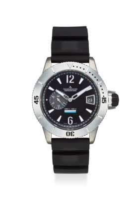 JAEGER-LECOULTRE AN EXTREMELY FINE TITANIUM GMT AUTOMATIC WRISTWATCH WITH DATE,