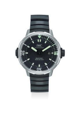 IWC AN EXTREMELY FINE TITANIUM AUTOMATIC WRISTWATCH WITH DATE, SECOND, ORIGINAL