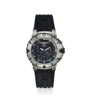HARRY WINSTON AN EXTREMELY FINE ZALIUM CHRONOGRAPH AUTOMATIC WRISTWATCH WITH DAT