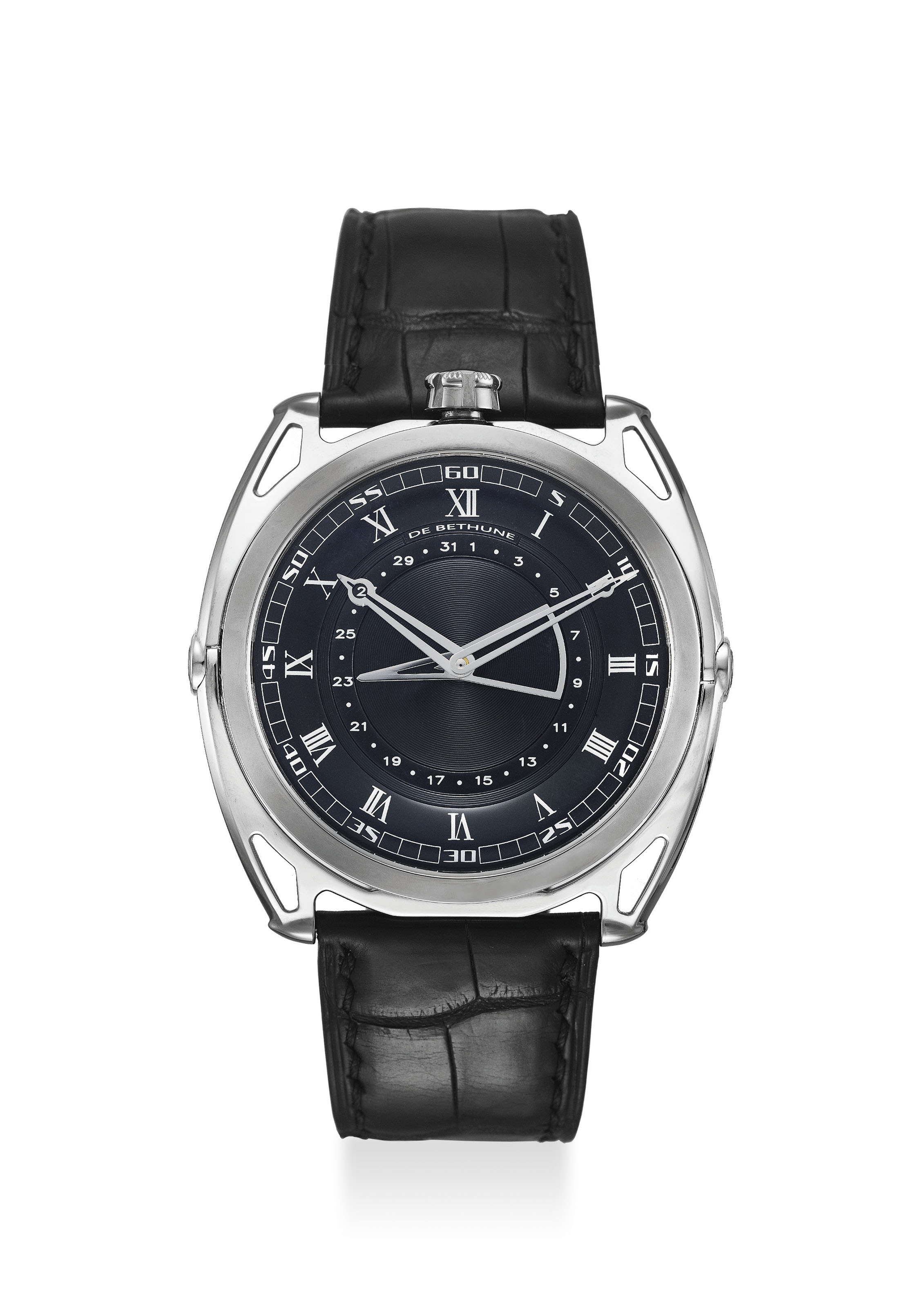 DE BETHUNE. AN EXTREMELY FINE TITANIUM AUTOMATIC WRISTWATCH WITH 6 DAYS POWER RESERVE, DATE, ORIGINAL CERTIFICATE AND BOX