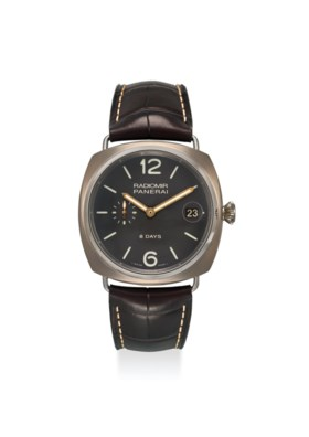 PANERAI AN EXTREMELY FINE TITANIUM 8 DAYS POWER RESERVE MANUAL WIND WRISTWATCH W