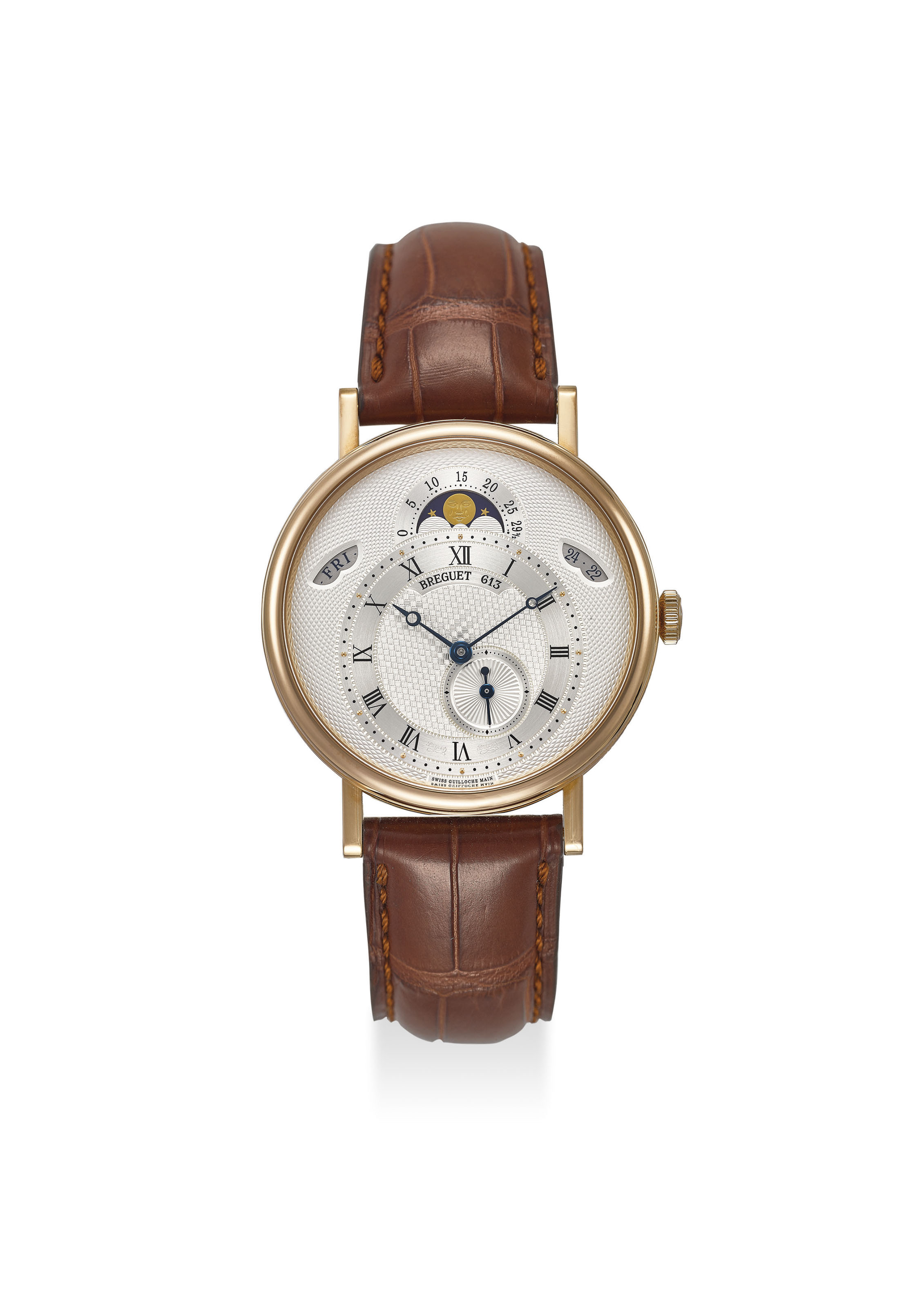BREGUET AN EXTREMELY FINE 18K ROSE GOLD AUTOMATIC WRISTWATCH...