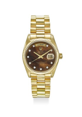 ROLEX AN ATTRACTIVE AND VERY RARE 18K YELLOW GOLD AUTOMATIC