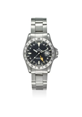 ROLEX A FINE STAINLESS STEEL AUTOMATIC WRISTWATCH WITH SWEEP