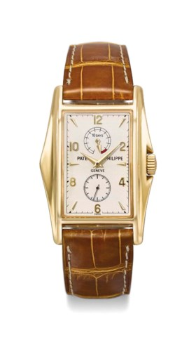 Patek Philippe A fine and rare 18K gold limited edition rect