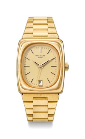 Patek Philippe A very rare heavy 18K gold rectangular electr