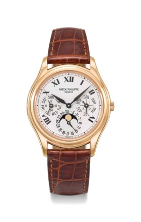 Patek Philippe A fine and rare 18K pink gold automatic perpe