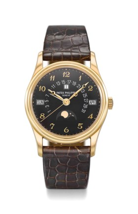 Patek Philippe A very fine and rare 18K gold automatic perpe