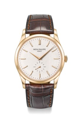 PATEK PHILIPPE A FINE AND ATTRACTIVE 18K PINK GOLD WRISTWATC