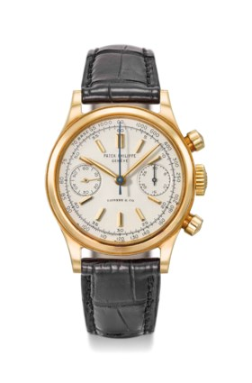 Patek Philippe An extremely fine and rare 18K gold chronogra