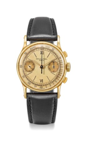 Patek Philippe A very fine and rare 18K gold chronograph wri