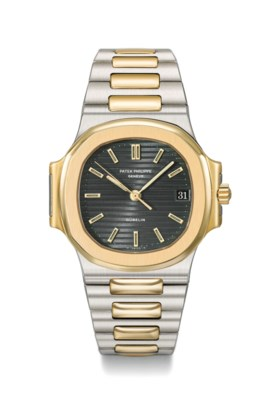 Patek Philippe A fine 18K gold and stainless steel automatic