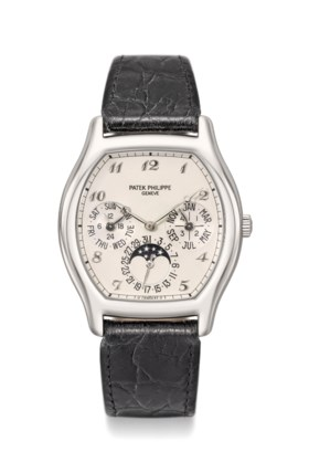 Patek Philippe A fine and rare platinum automatic perpetual