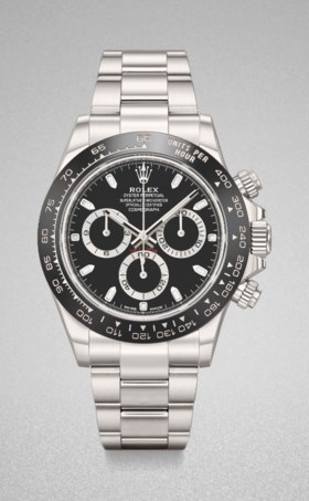 ROLEX A VERY FINE STAINLESS STEEL AUTOMATIC CHRONOGRAPH WRIS