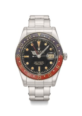 Rolex A very rare and highly attractive stainless steel dual