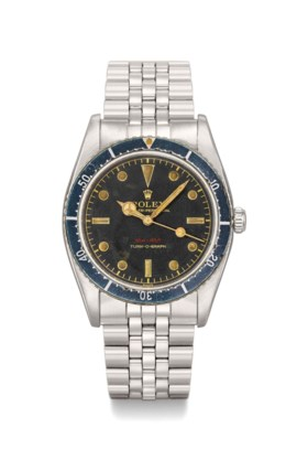 ROLEX A VERY FINE STAINLESS STEEL AUTOMATIC WRISTWATCH WITH