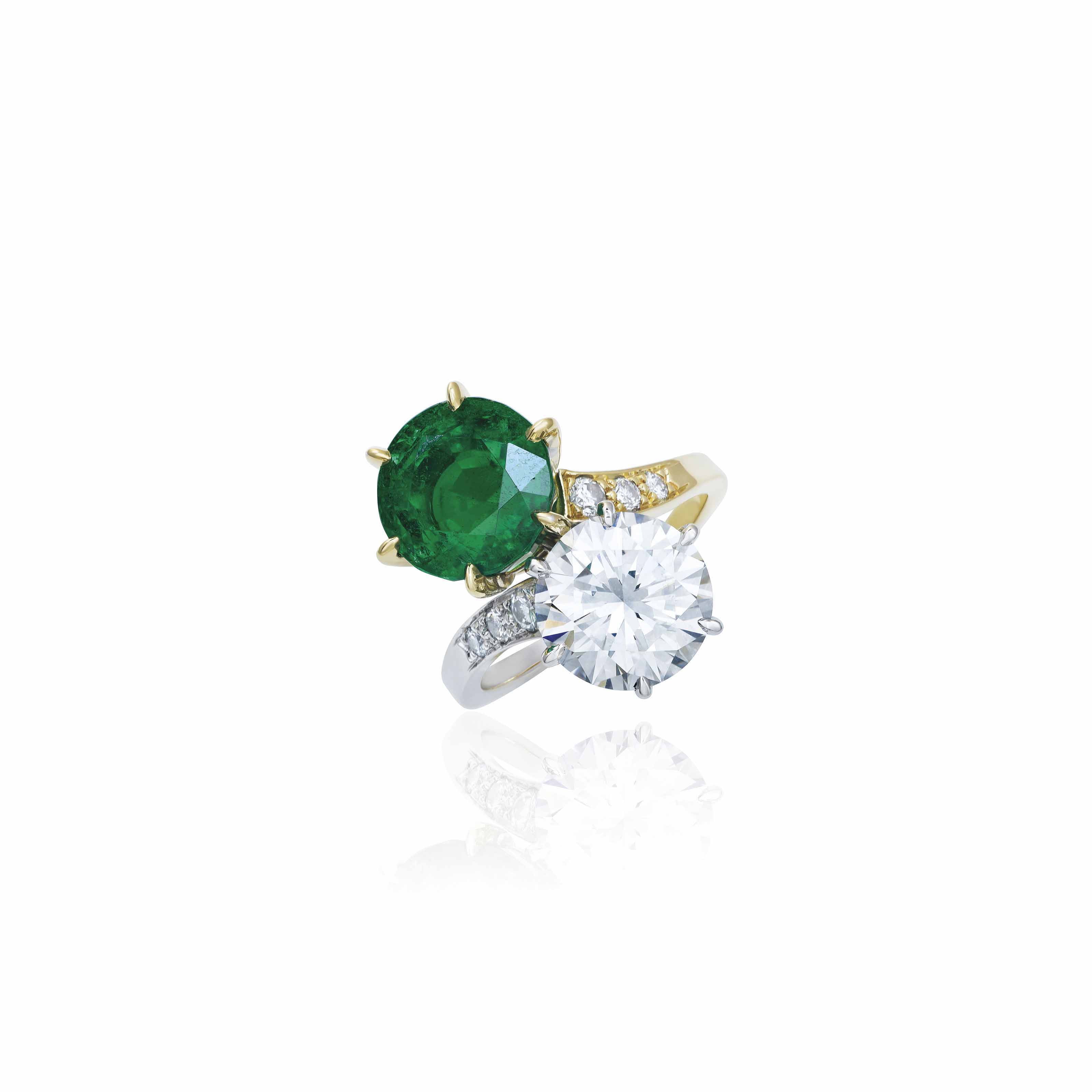 EMERALD AND DIAMOND RING, MEISTER