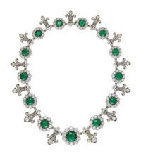 IMPORTANT LATE 19TH CENTURY EMERALD AND DIAMOND NECKLACE, BY TIFFANY & CO.