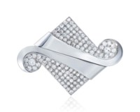 ART DÉCO DIAMOND DOUBLE CLIP BROOCH, RAYMOND TEMPLIER
