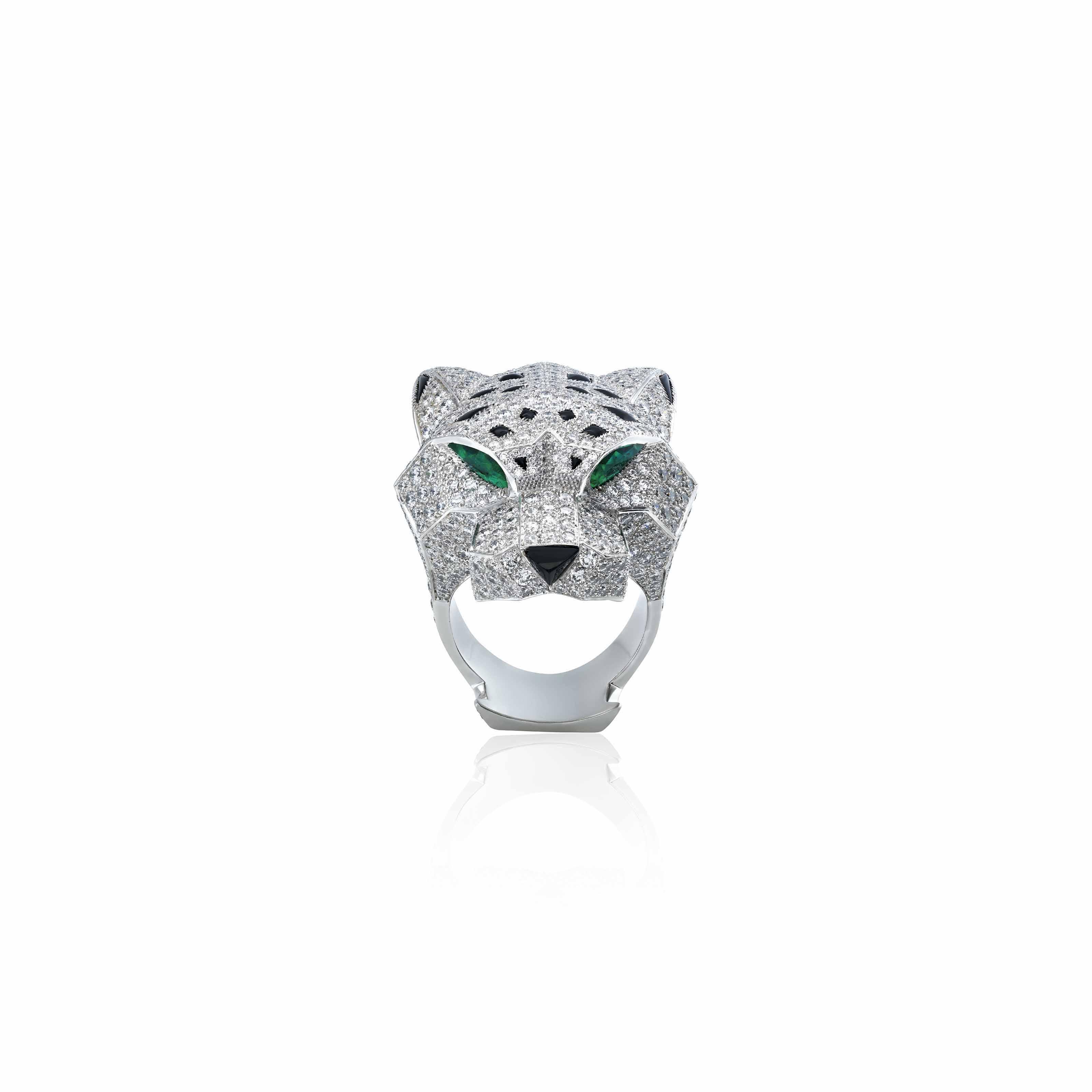 affec418c25e2 DIAMOND, EMERALD AND ONYX 'PANTHÈRE' RING, CARTIER | animal, Jewelry ...