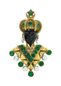 GROUP OF FIVE MULTI-GEM 'MORETTO' BROOCHES, NARDI