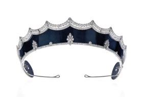 RARE EARLY 20TH CENTURY STEEL AND DIAMOND TIARA, CARTIER