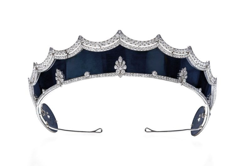 Rare early 20th-century steel and diamond tiara, Cartier. Old-cut diamonds, blackened steel, platinum (French marks), 1912-1915, inner circumference 49.4 cm, signed Cartier Paris, maker's mark (Henri Picq), numbered. Estimate CHF 350,000-500,000. Offered in Magnificent Jewels on 13 November 2018 at Christie's in Geneva