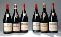 Armand Rousseau Chambertin 1993 Very slightly damaged label magnum (1) 1996 magnum (1) Chambertin Clos de Beze 1993 magnum (1) 1996 magnum (1) Gevrey Chambertin Clos St Jacques 1993 magnum (1) 1996 magnum (1) All slightly bin-soiled labels. Excellent levels