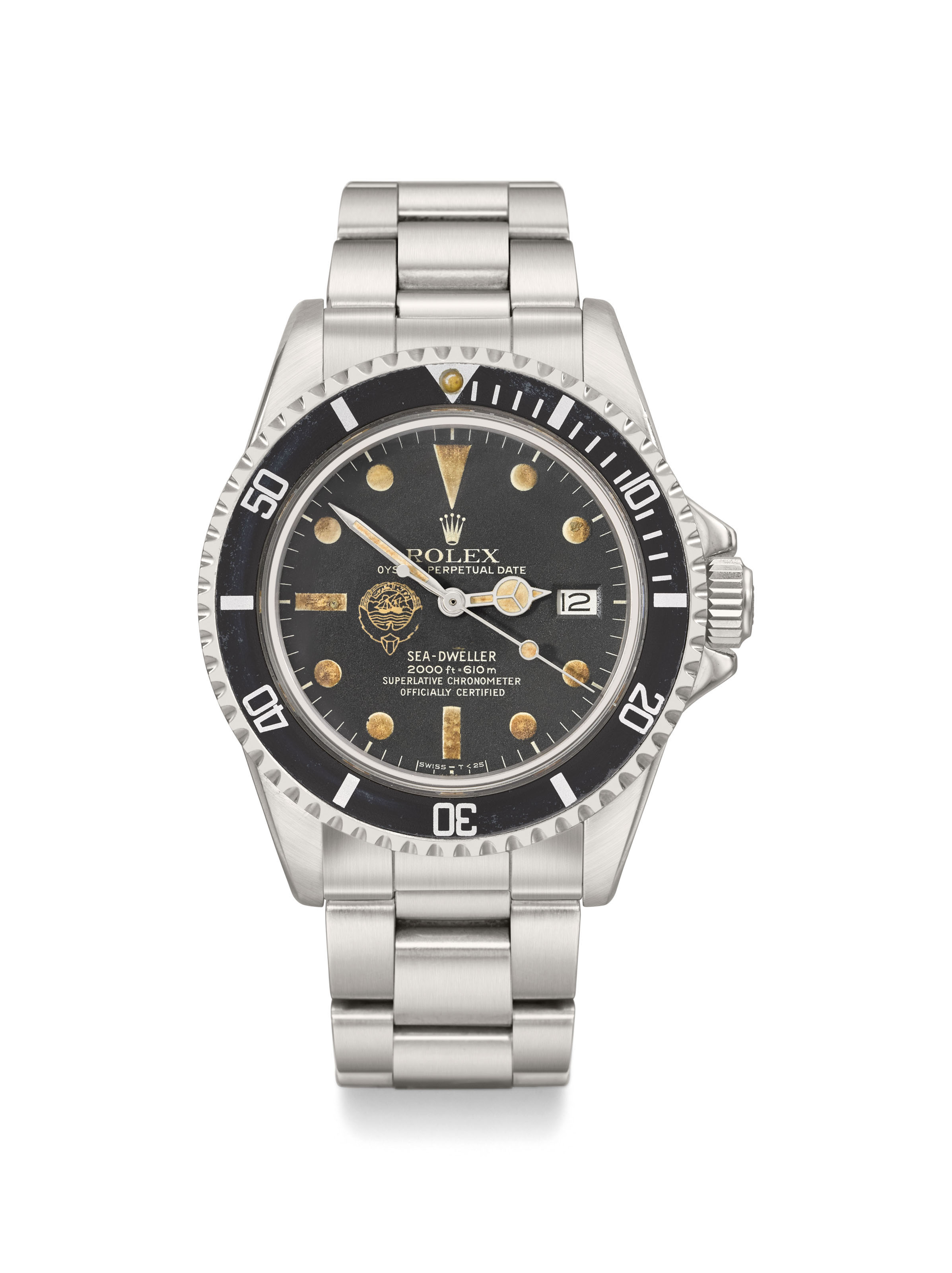 Rolex  An extremely fine and very rare stainless steel automatic