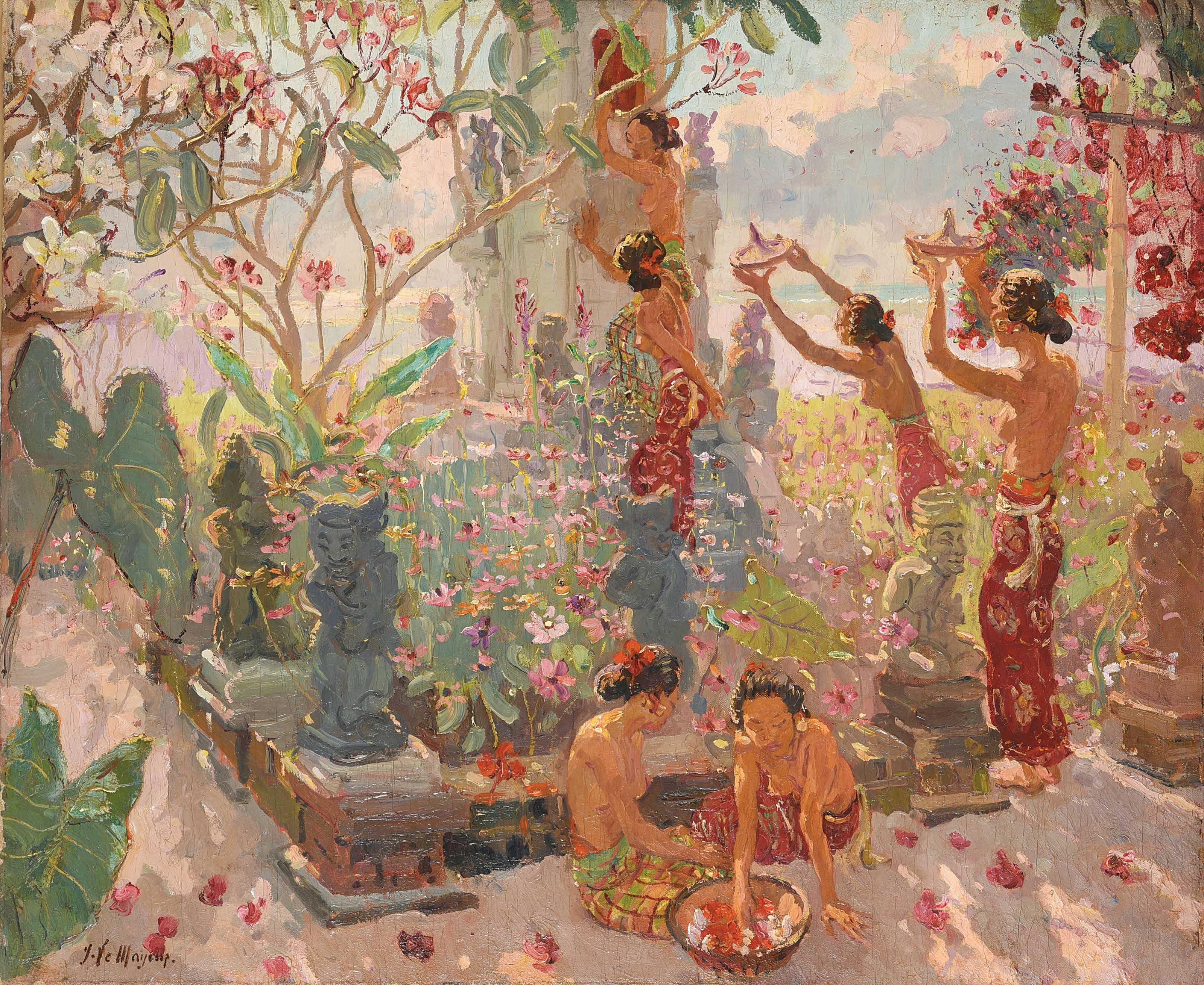 La Montée au Temple Bali (Ascension to the Temple Bali)