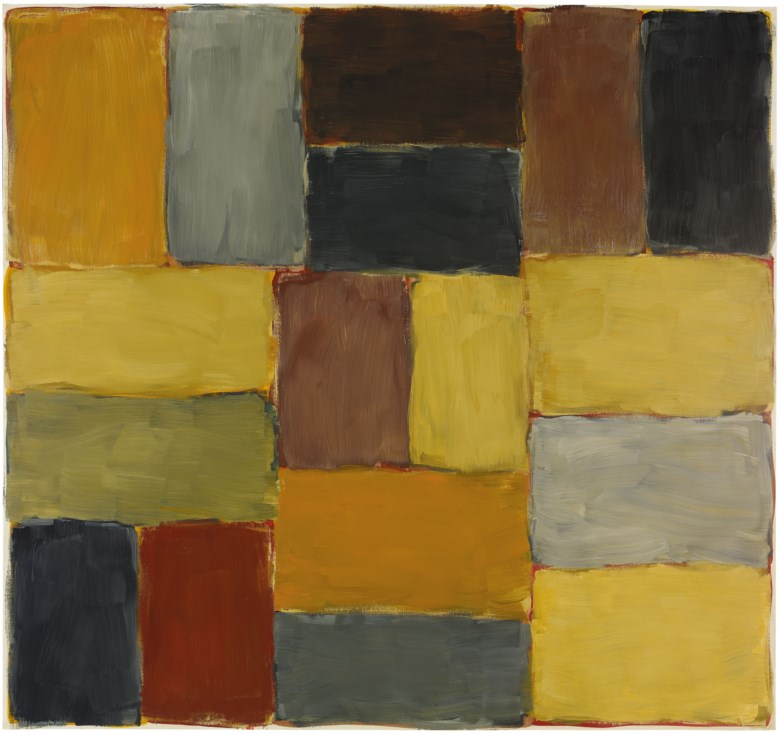 Sean Scully (Ireland USA, b. 1945), Vincent, 2002. Oil on linen. 190.5 x 203.2  cm (75 x 80  in). Sold for HK$9,100,000 on 26 May 2018 at Christie's in Hong Kong. © Sean Scully