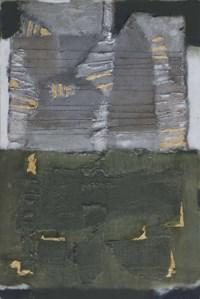 Komposisi Abu-Abu Hijau dan Emas (Gray, Green and Gold Composition)