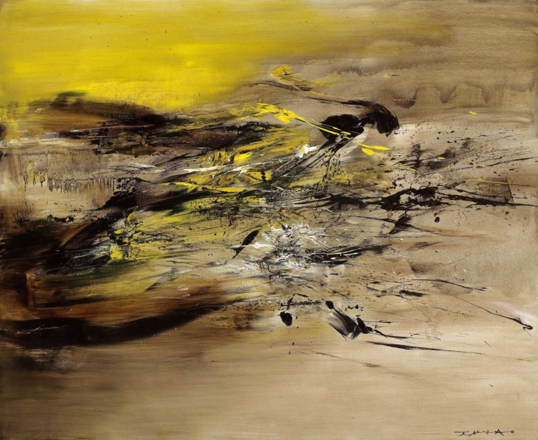 Zao Wou-Ki (1920-2013), 22.07.64, 1964. 161.5 x 199.5 cm, 63 ½ x78 ½  in. Estimate on request. This lot is offered in Asian 20th Century & Contemporary Art (Evening Sale) on 24 November 2018 at Christie's in Hong Kong