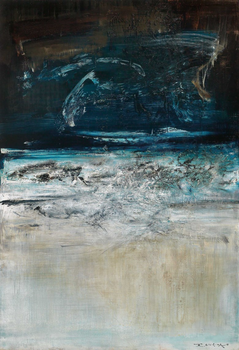 Zao Wou-Ki (1920-2013), 05.06.63, 1963. 130 x 90  cm, 51⅛ x 35⅓  in. Estimate HK$20,000,000-28,000,000. This lot is offered in Asian 20th Century & Contemporary Art (Evening Sale) on 24 November 2018 at Christie's in Hong Kong