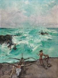 Fishermen and Prau Along the Indonesian Coast